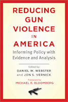 Book cover:  Reducing Gun Violence.  Source: http://d202m5krfqbpi5.cloudfront.net/books/1357930583l/17220135.jpg