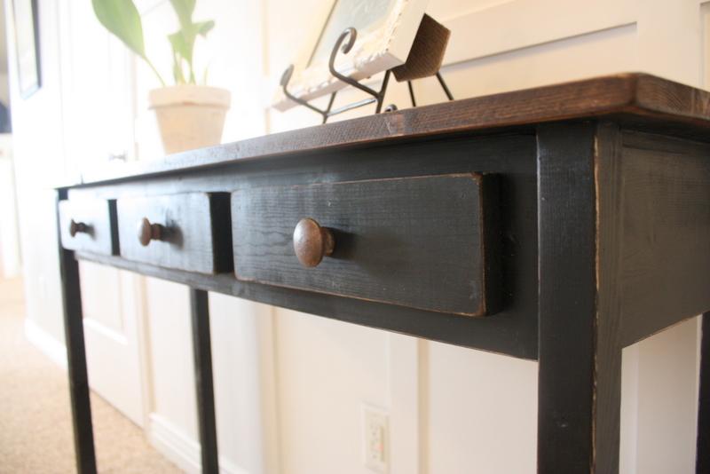 Entry Table #2 {Black Distressed} U0026 Tutorial