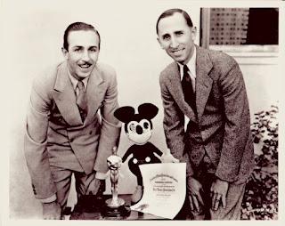 Walt e Roy Disney, donos dos estúdios Disney