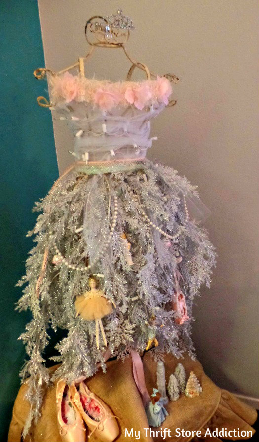 My thrift store addiction creating christmas a very for Ballerina christmas tree decoration