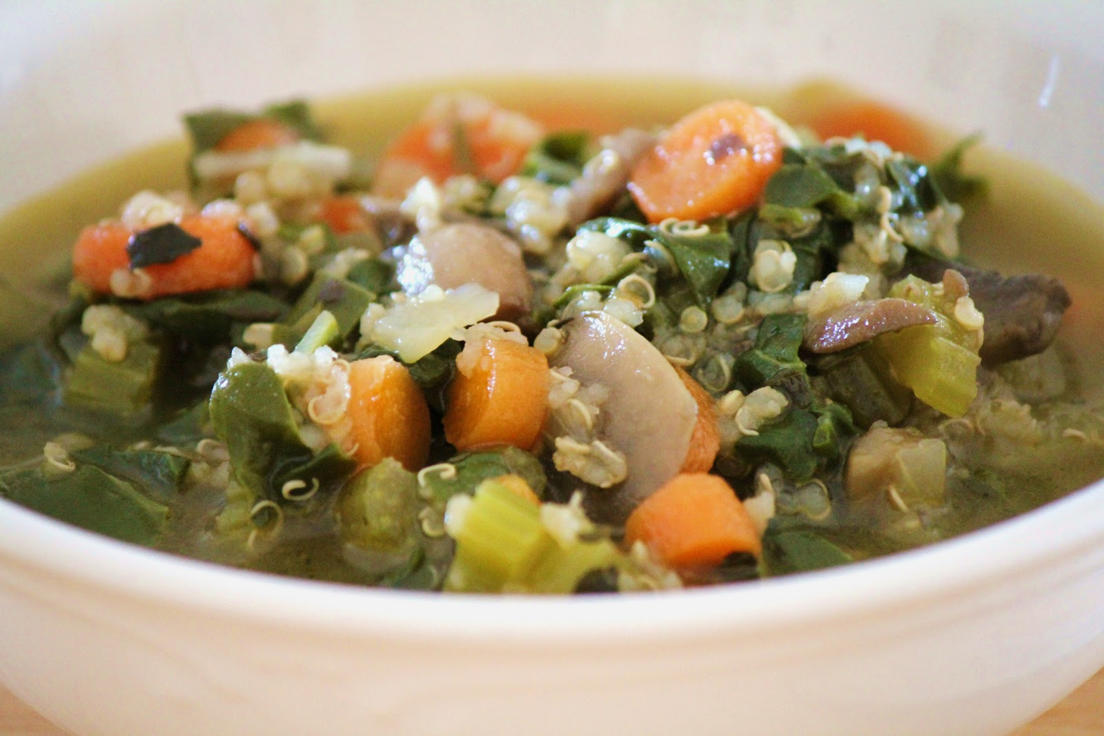 Delicious as it Looks: Herbed Vegetable Quinoa Soup with Swiss Chard