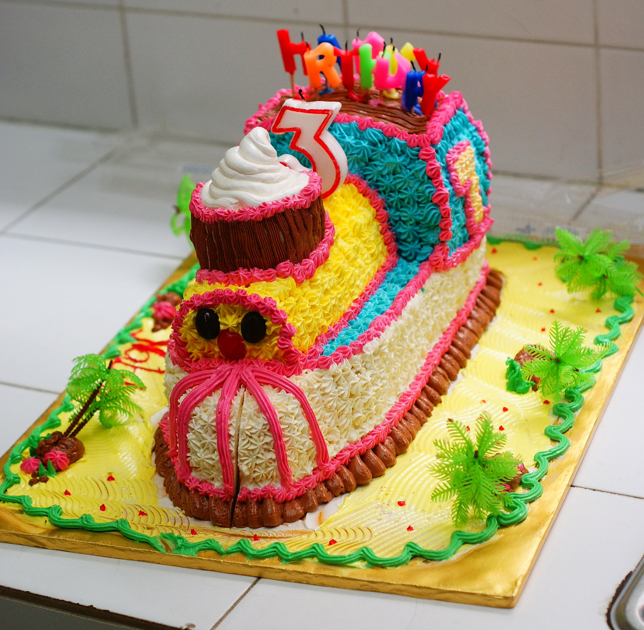 Delicious-Mama-Kitchen: Train Cakes(Birthday Cakes)