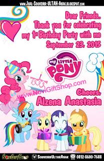 Thank Card Little Pony Alze Sample Tema Design Thanks Card (Kartu Ucapan Terima Kasih)