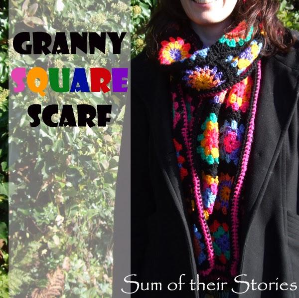 Granny Squarre Scarf Tutorial