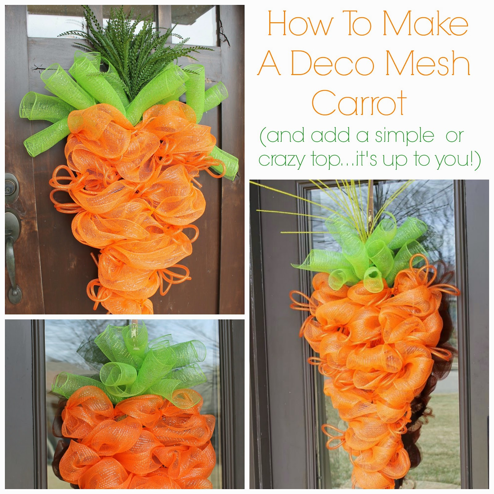 Geo mesh wreath form - Diy Deco Mesh Carrot