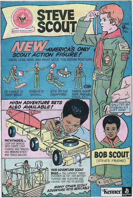 Steve Scout, boy scout action figure advert