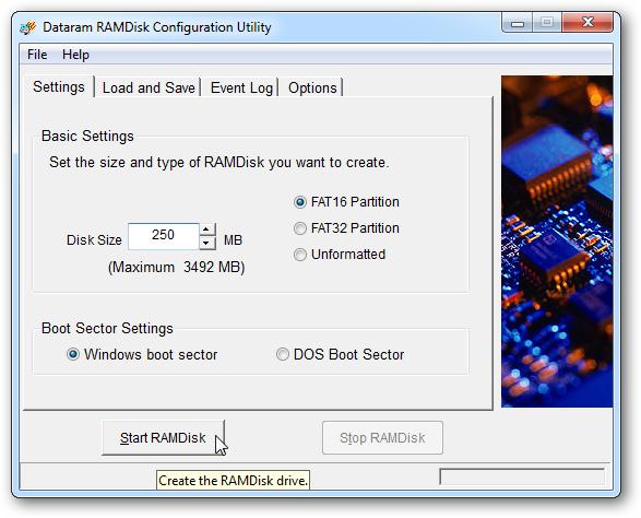 RAMDisk 4.1.0 RC24 virtual RAM drive download