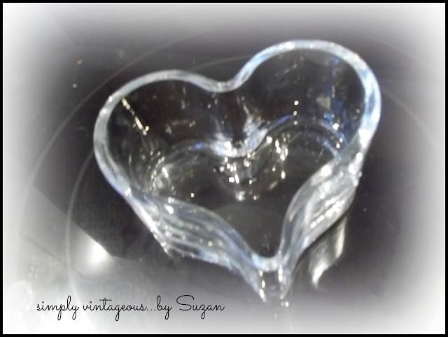 cut glass, heart, candy, bowl