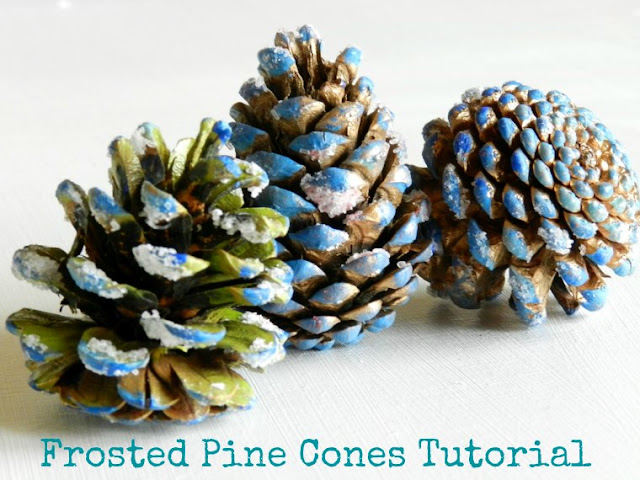 Frosted Holiday Pine Cones