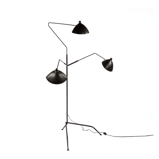 France and Son MFL-3 Standing Lamp - Three Arm - Black