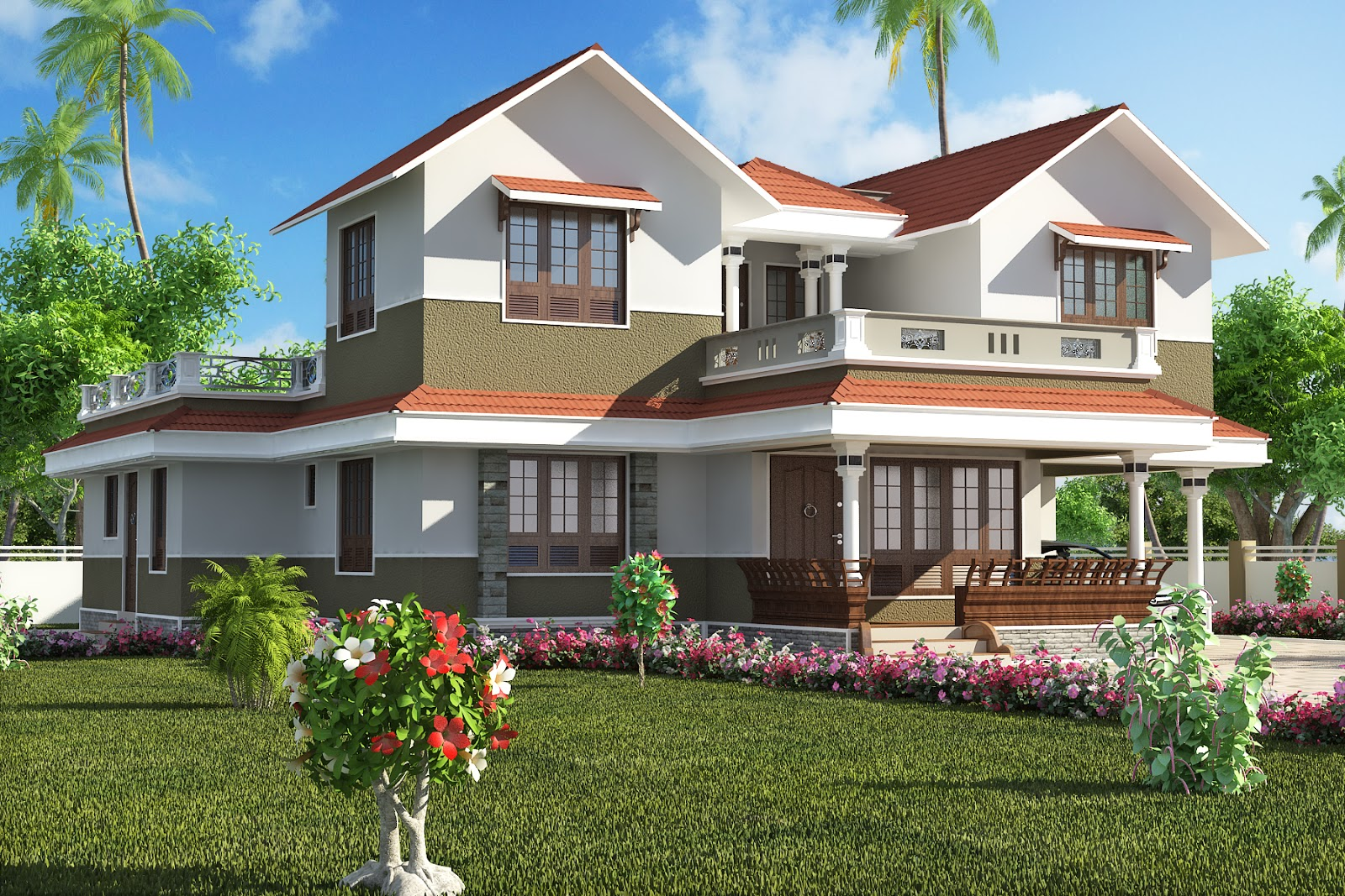 Traditional style kerala home design architecture kerala for Villa plans in kerala style