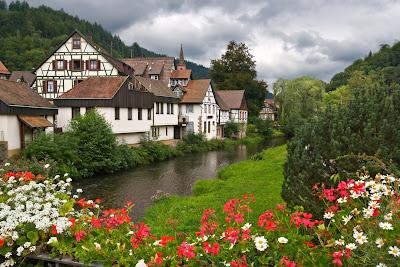 Paisajes naturales en Schiltach, Alemania.
