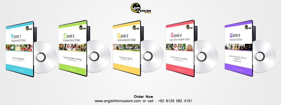 3. DVD English Muslim KEREN Senilai Rp. 300.000,-
