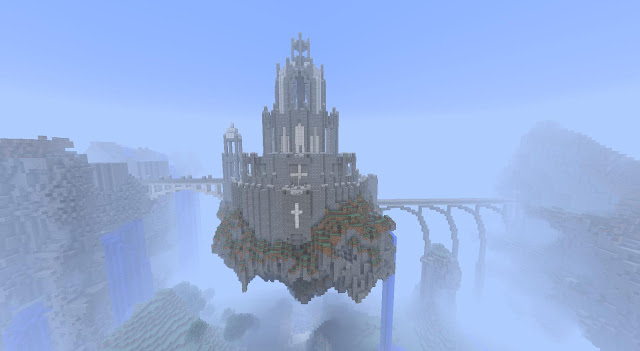 Floating Minecraft Castle