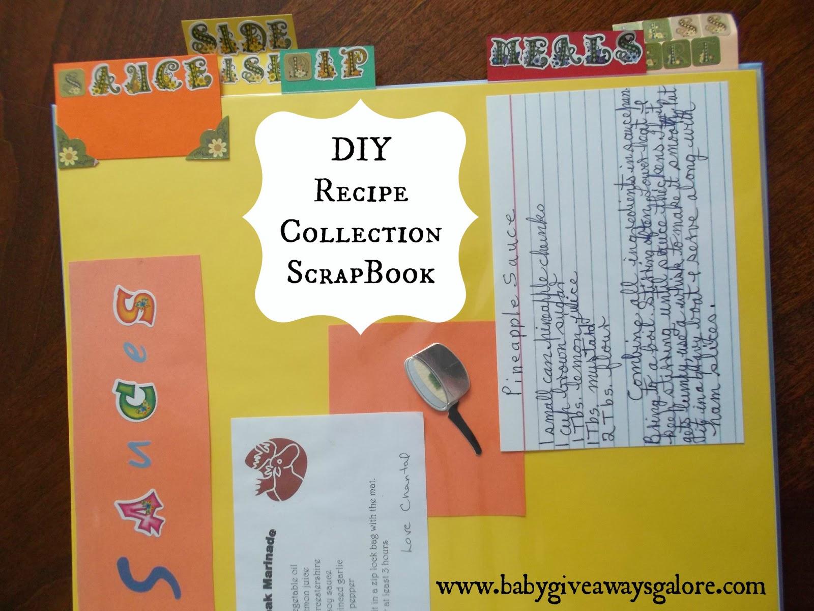 How to scrapbook a recipe book - Diy Recipe Collection Scrapbook