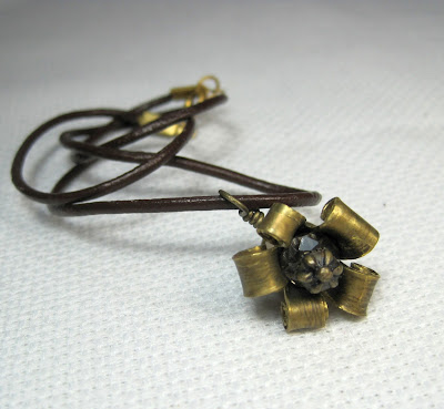 Brass Flower Made From Bullet
