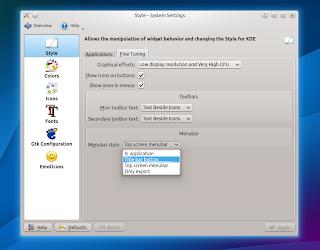 KDE 4.10: Systtem Settings - enabling appmenu