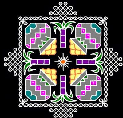 Rangoli Designs for Sankranthi Special Beautiful latest easy colourful