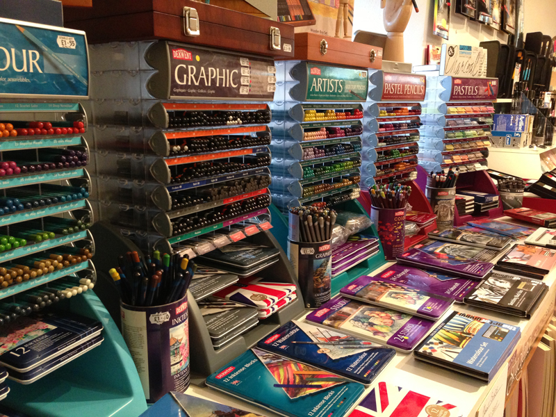 Art supplies at Stable Art