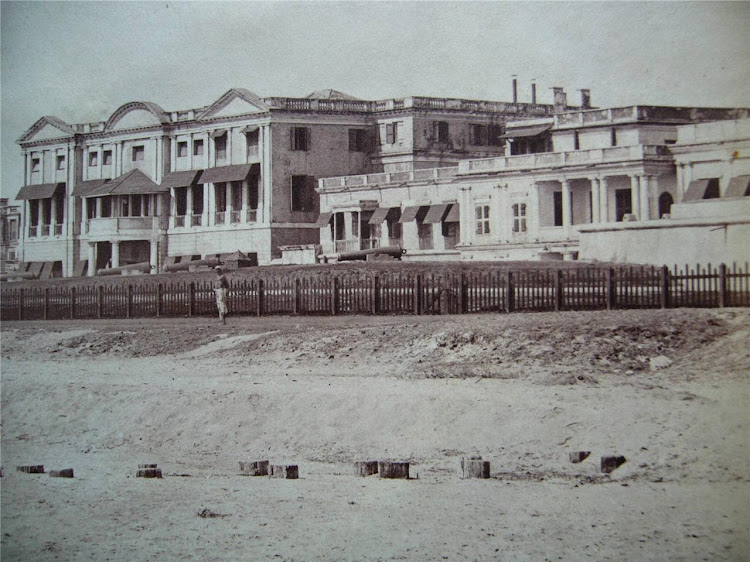 Madras (Chennai) Cityscape, Fort St. George in Background - c1865