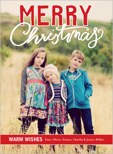 scribbly greetings - Shutterfly Christmas Cards