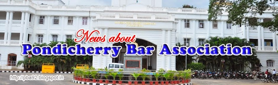 News about Pondicherry Bar Association