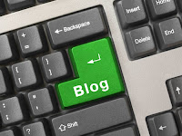 the word blog substituted for the enter key on a keyboard