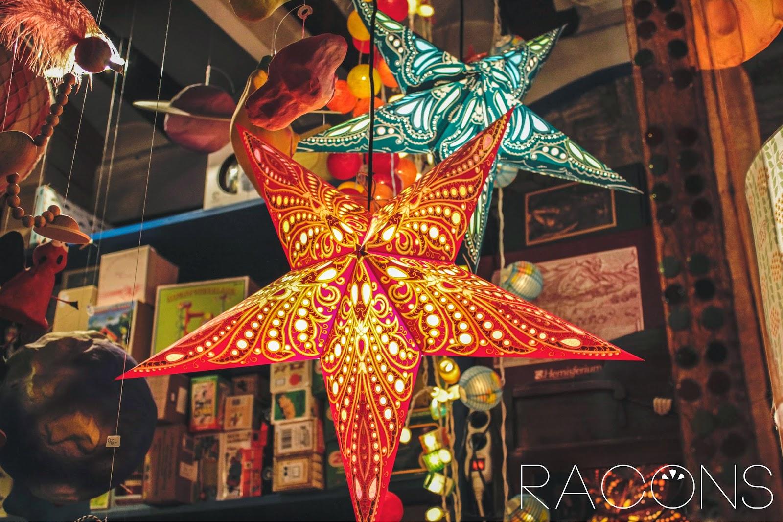 llums en forma d'estrella decorativa