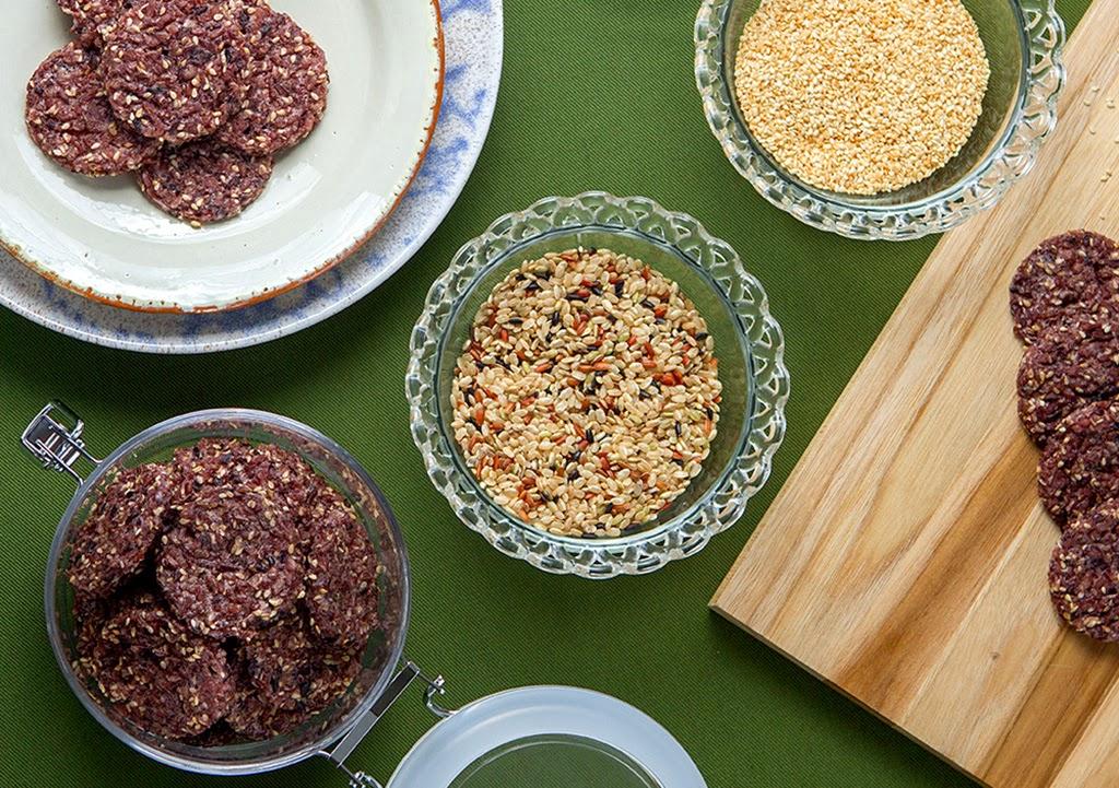 Biscoito de arroz multigrãos light (sem glúten e sem lactose)