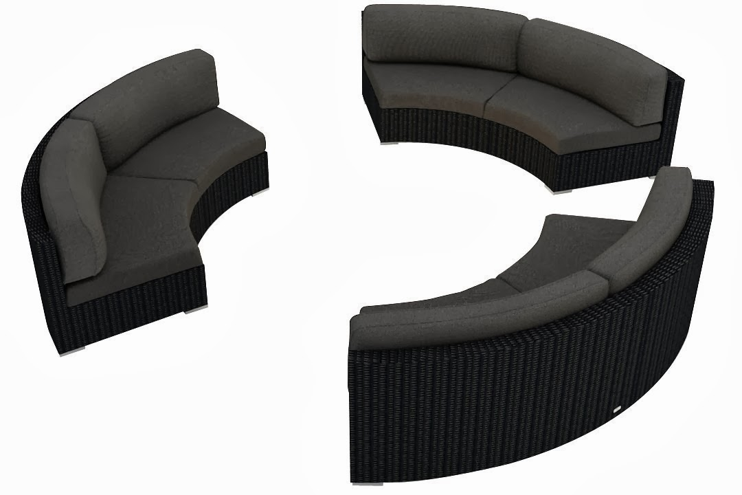 Buy curved sofa online curved outdoor sofa 1 for Curved sectional sofa amazon