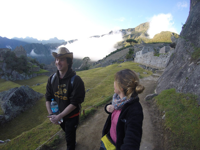 Llegada a Machu Picchu