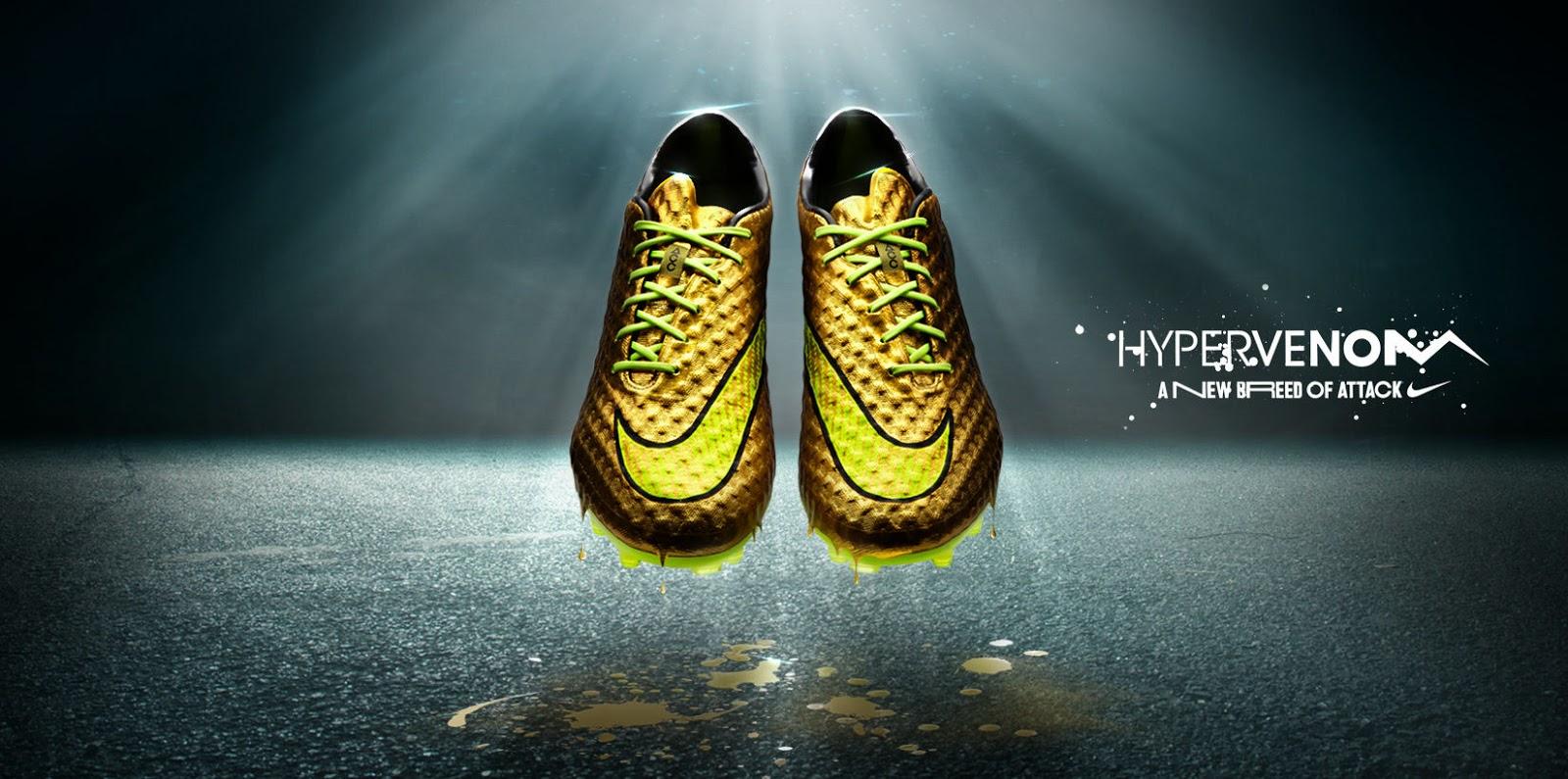 gold neymar 2014 world cup hypervenom boot unveiled