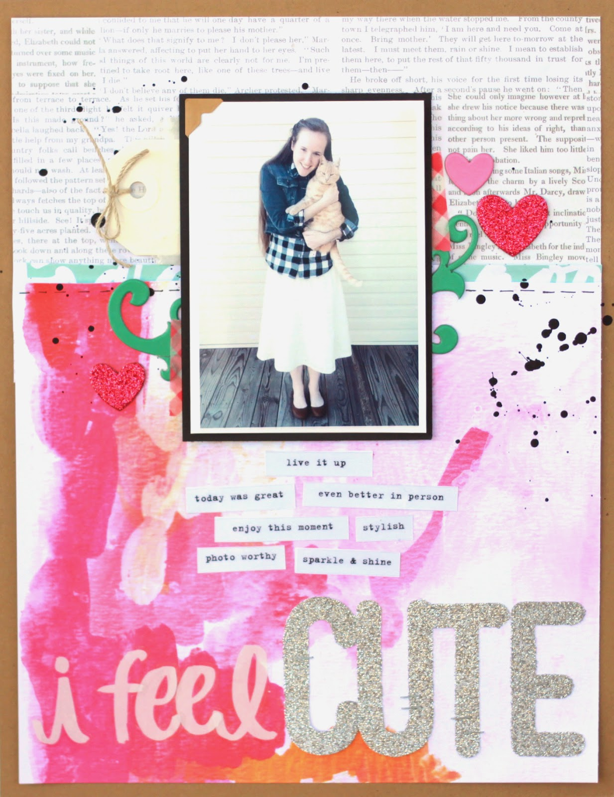 Crafty Scrapbooker Scrapbook Layout I Feel Cute Me My Big Ideas