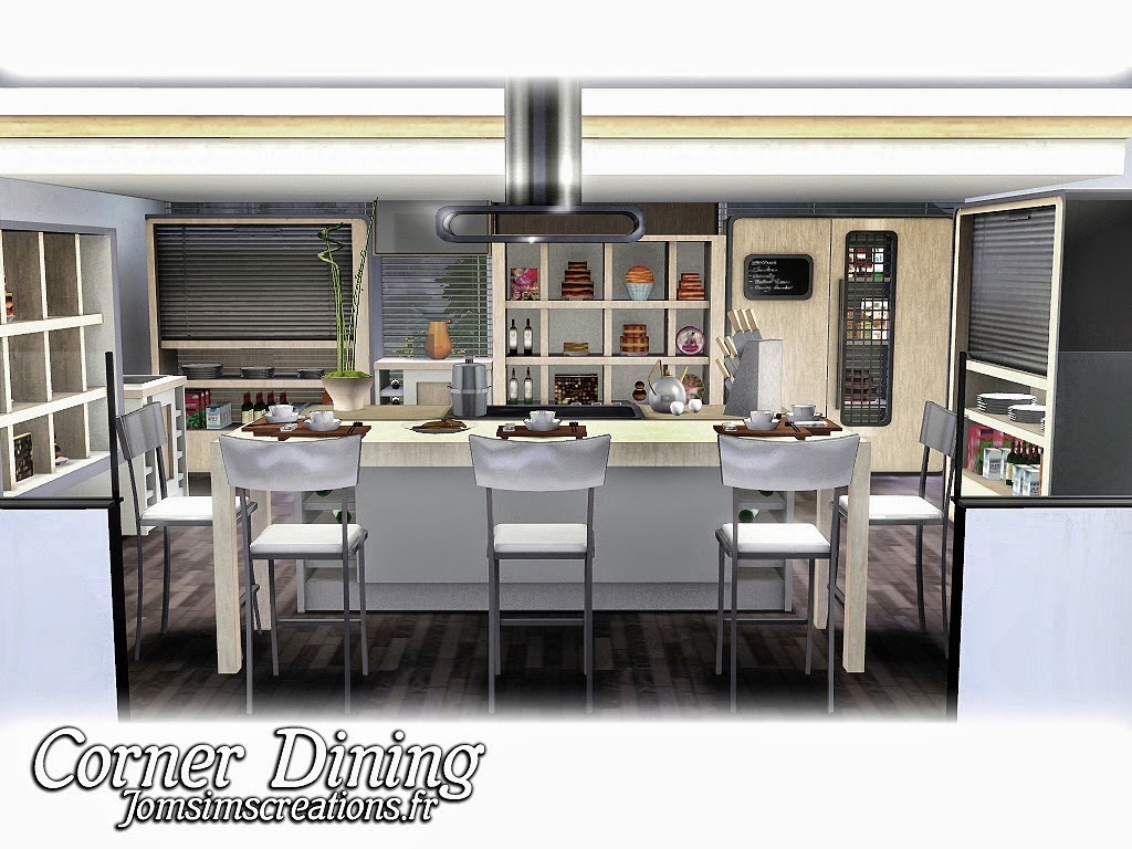 My sims 3 blog corner living dining and kitchen sets by for My kitchen set
