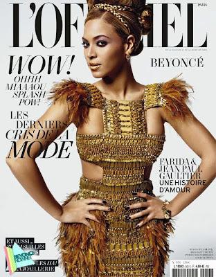 >Beyoncé en couverture de L'Officiel Paris