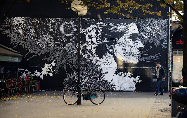 Several New Street Art Pieces By French Artist Monsieur Qui On The Streets Of Paris, France. 1