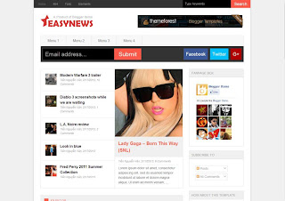 Easy News 2013 Responsive Blogger Template download