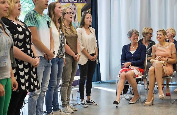 Queen Maxima Visits The Fontys School In Den Bosch