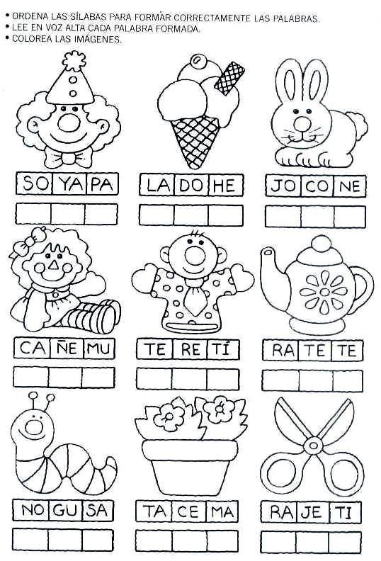 Ejercicios para niños de preescolar de escritura - Imagui