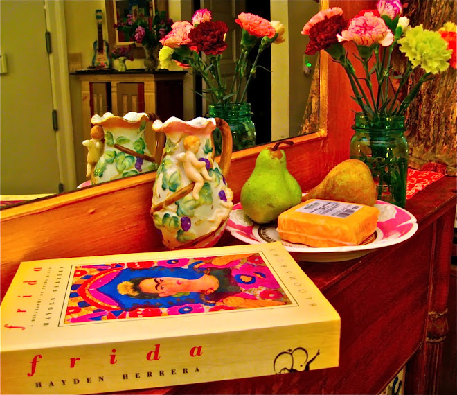 The Life of Frida Kahlo with Pears and Hook's Cheddar from the Willy Street Co-op