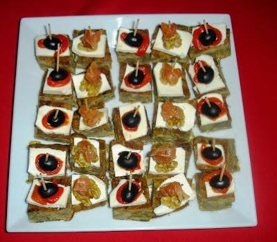 Pincho de tortilla de alcachofa