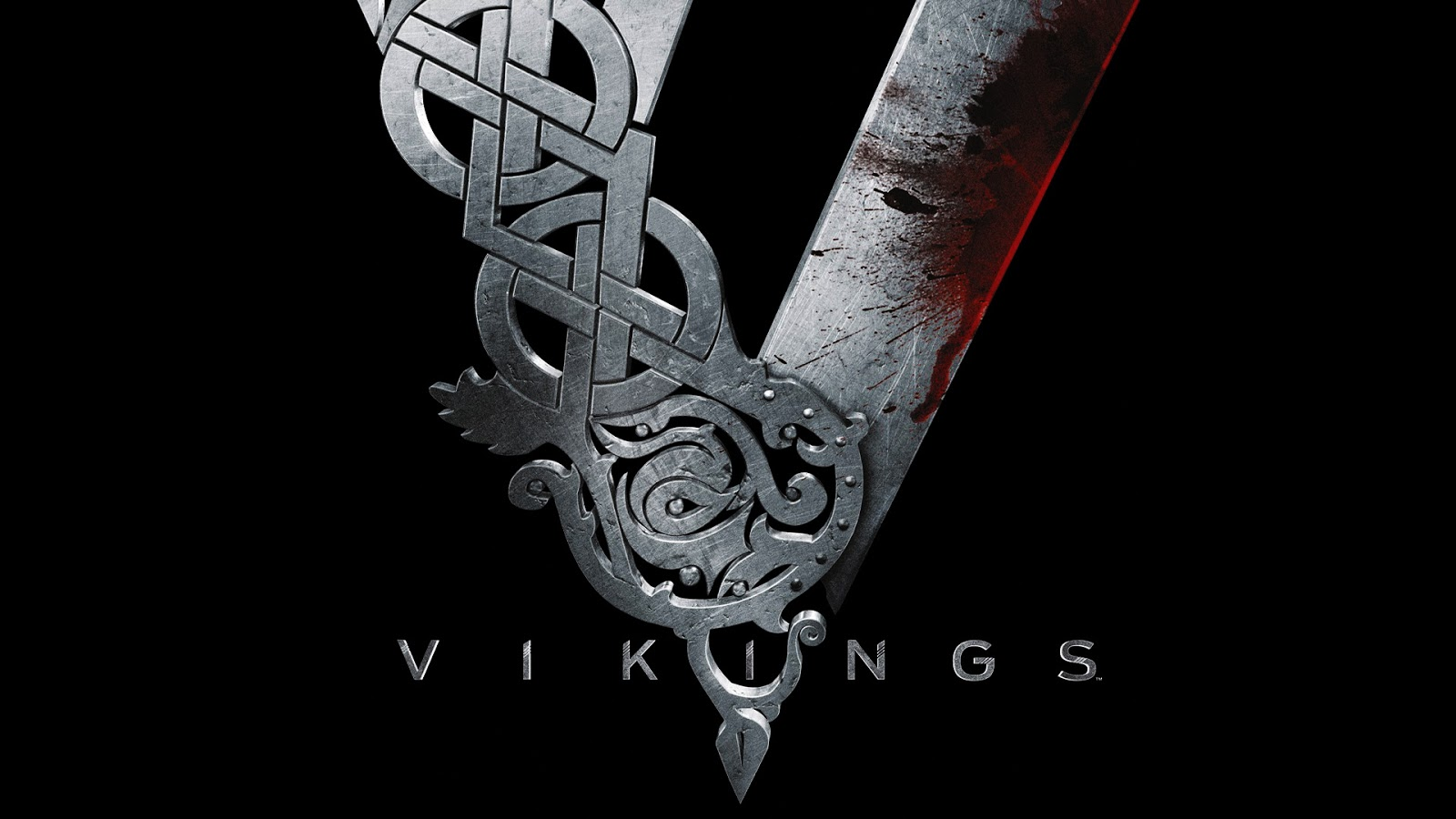 Vikings Tv Series Bloody Metal Logo HD WallpaperVikings Logo Wallpaper