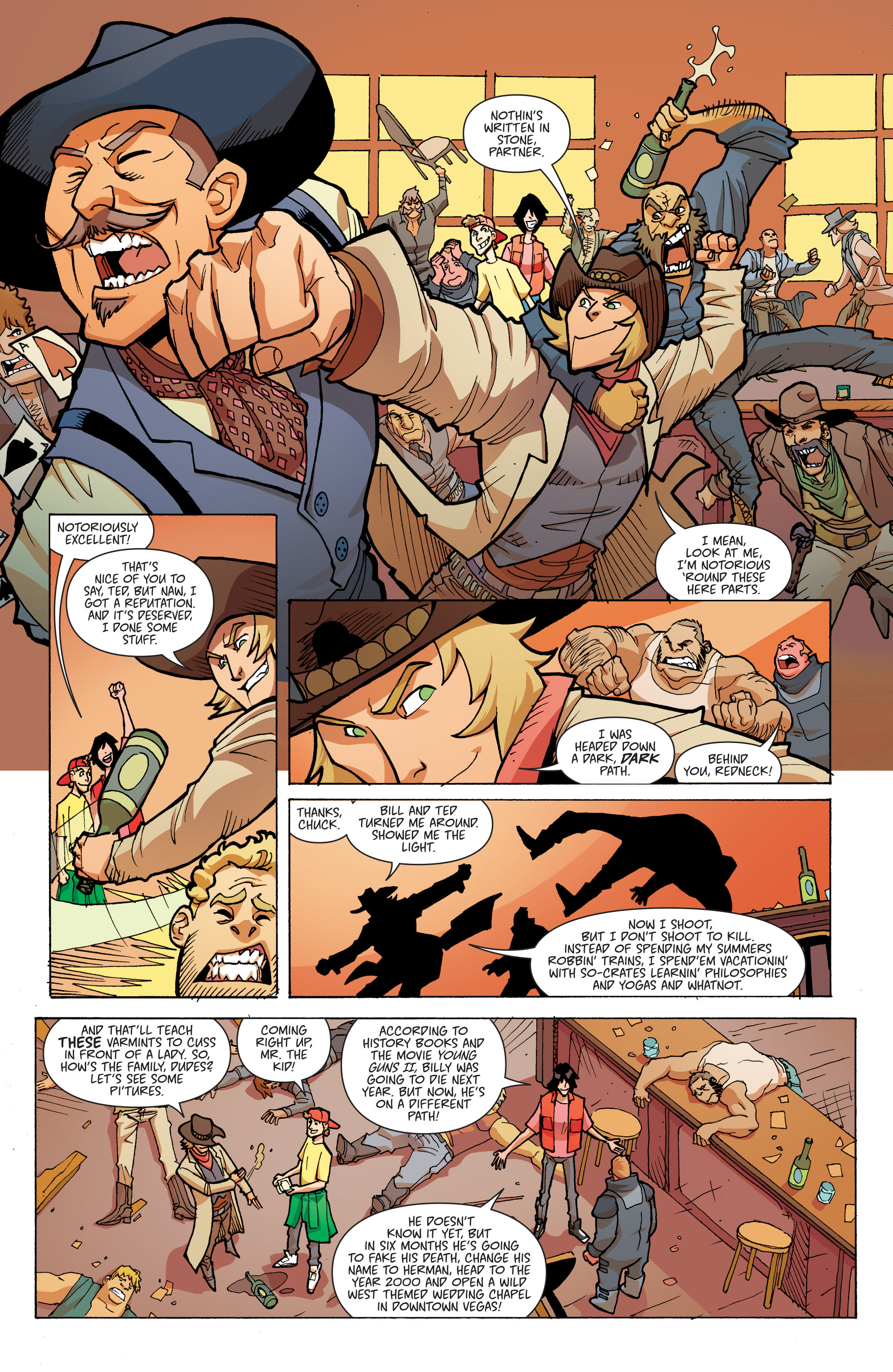Read online Bill & Ted's Most Triumphant Return comic -  Issue #3 - 7