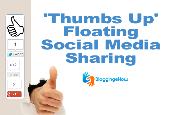 'Thumbs Up' Floating Social Media Sharing