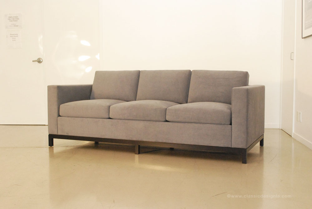 Tuxedo Sofa With Wood Base