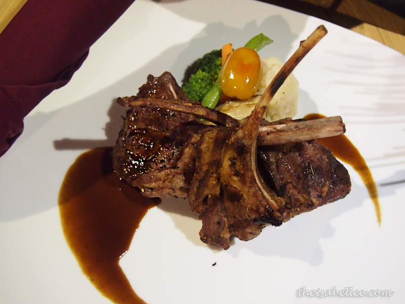 Grilled Lamb Rack at TGV Indulge