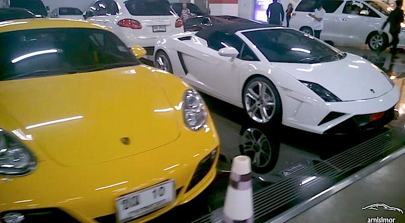 タイ バンコクの高級デパートの駐車場がスーパーカーだらけ!