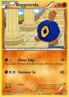 Roggenrola Dragons Exalted Pokemon Card