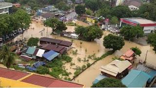 banjir kilat George town penang