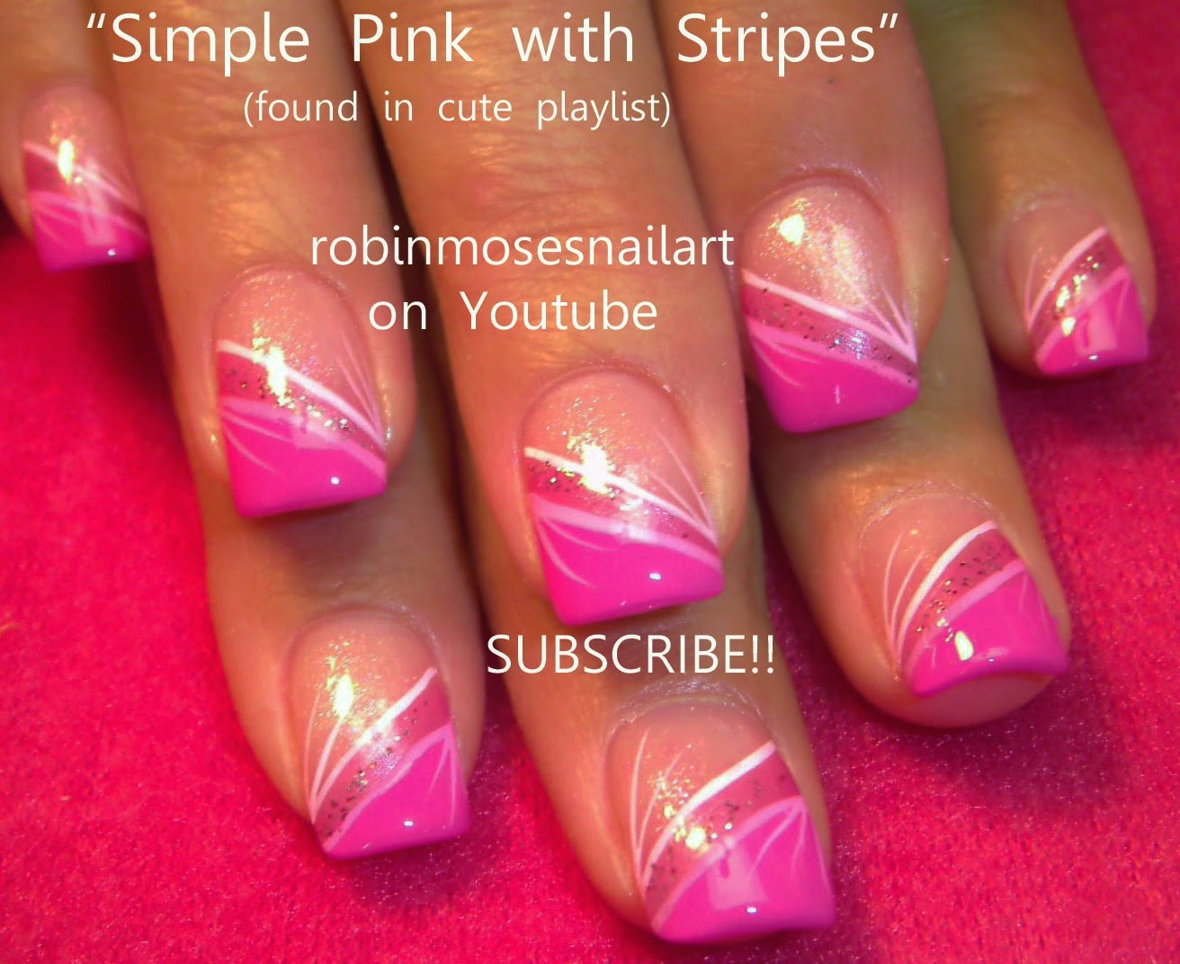 Hot pink and silver nail designs hot pink and silver nail designs 80 nail designs for short nails stayglam prinsesfo Images